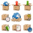 Vector carton box icons