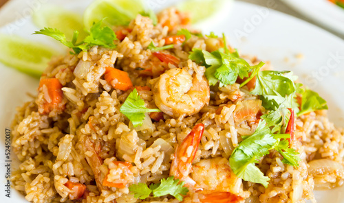 Fried rice with shrimp, Thai style food