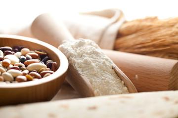 farina grano e fagioli