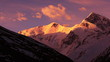 Annapurna III peak (7555 m) at sunrise. Time Lapse.