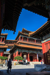 Buddhist temple in the city Beijing, China