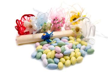 bomboniere e confetti colorati