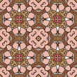 delicate seamless pattern with ethnicity motif