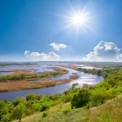 delta of vorskla river
