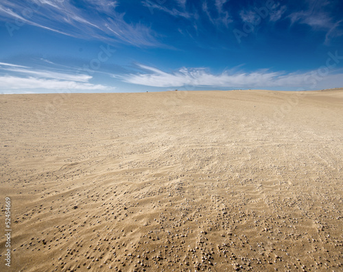 desert landscape, dunes, sky in the background