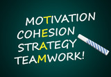 Team: Motivation, Cohesion, Strategy, Teamwork poster