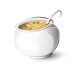 Cooking pot with spoon