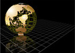 background with abstract earth globe
