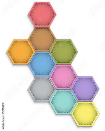Leather hexagons