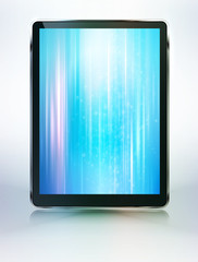 Vector tablet computer with abstract background