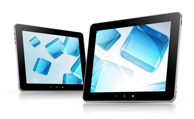 Vector tablet computers with abstract background