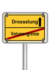 Drosselung vs. Volumengrenze