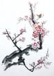 Quadro plum tree blossom