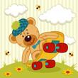 teddy bear on a skateboard