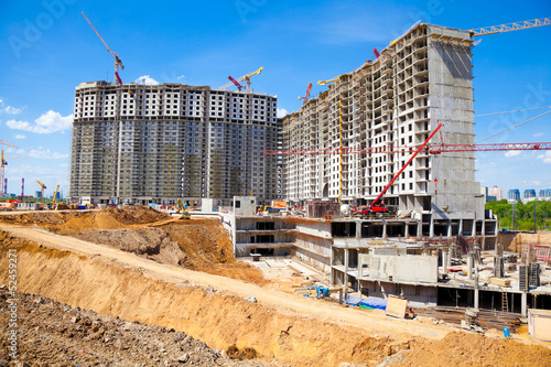 Major construction of residential complex