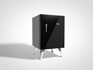 Black vintage refrigerator