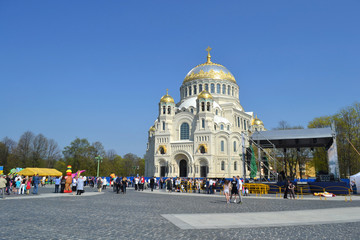 Naval cathedral in Kronstadt