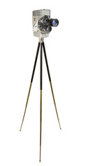 Wind-up 16mm Movie Camera and Tripod
