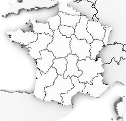 France 3d map