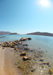 Summer sea landscape. Elounda, Crete, Greece