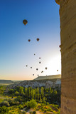 hot air balloon trip at famous cave house Cappadocia Turkey