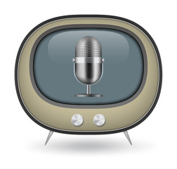 Retro TV and Microphone