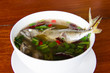 Spicy lemon grass soup.Mackerel