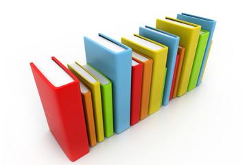 Colorful books.
