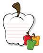 A bell pepper shaped stationery