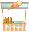 A wooden icecream stand