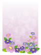 A purple stationery with flowers