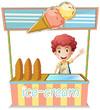 A boy selling ice cream