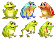Six Different Frogs