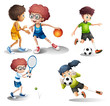 Kids engaging in different sports