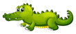 A giant green crocodile