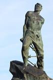 Monument of the Tatar poet Musa Jalil near Kazan Kremlin, Russia poster