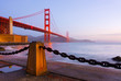 Golden Gate Bridge in San Francisco at sunrise