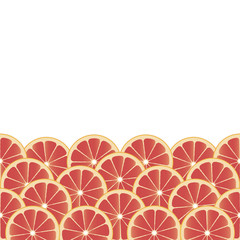 Fruity background with grapefruit slices