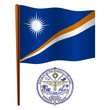 marshall islands wavy flag