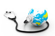 Globe with stethoscope - Global healthcare.