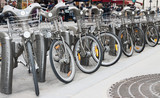 Bikes parking in a Paris street - Fine Art prints