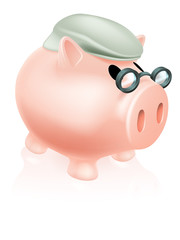 Pension pig money box