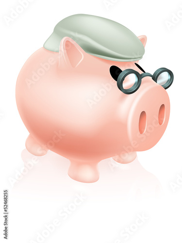 Pension pig money box