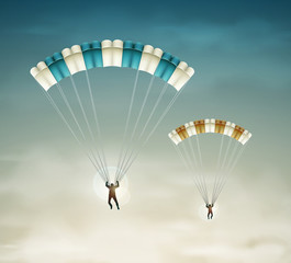 Two parachutists