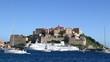 Calvi Korsika - die Zitadelle - im Hafen