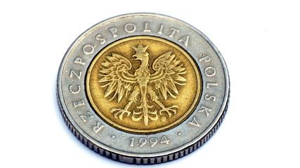 5 zloty - rückseite mit adler
