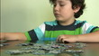 Little boy and puzzle