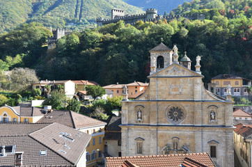 Old church in Bellinzona, Switzerland