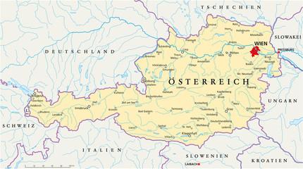 Österreich Landkarte ( deutsch )