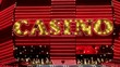 "Illuminated sign ""CASINO"""